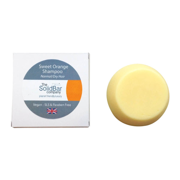The Solid Bar Company Family Size Luxury Shampoo Bar: Botanical, Sweet Orange