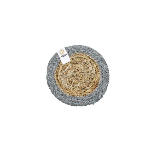 Respiin Seagrass & Jute Coaster NEW ONLINE!! Grey/natural, Green/natural, Yellow/natural