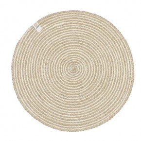 Respiin Round Spiral Jute Tablemat - Natural/White & Natural/Grey NEW ONLINE!!