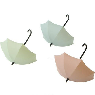 3pcs/lot Creative Umbrella Shaped Key Hanger Rack