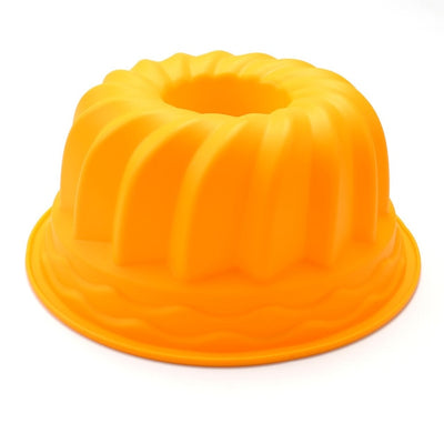 Large hollow round 9 inch chiffon cake mold gear plate