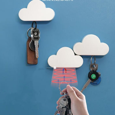 Minimalist Cloud Shape magnetic key holder