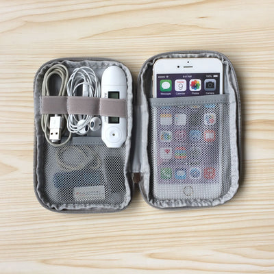 Travel Kit USB mobile phone Cable Data Cable Organizer