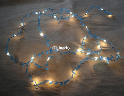 Tiny leaves garland fairy light led copper wire Battery string lights