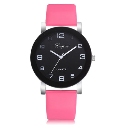 Women Casual Leather Band Analog Wrist Watch