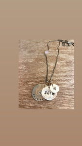 Initial/word/date  necklace
