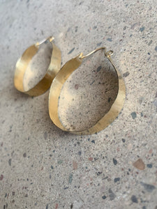hammered brass hoop