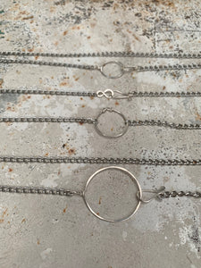 Stainless steel and sterling circle