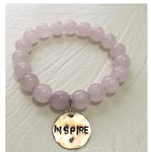 Load image into Gallery viewer, Rose quartz inspire bracelet