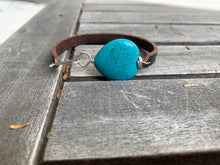 Load image into Gallery viewer, Turquoise heart cuff