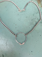 Load image into Gallery viewer, Silver or gold ring necklace