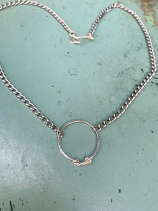 Silver or gold ring necklace