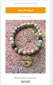 Personalized Stretchy stone bracelet