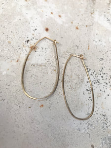 Oblong gold hoops
