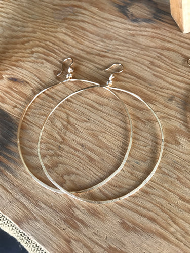 Large 14 k gold fill hoops