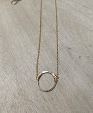 Load image into Gallery viewer, circle necklace in gold or sterling