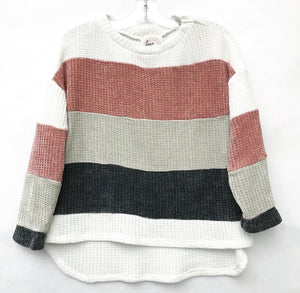 Colorblock Chenille Sweater - jernijacks