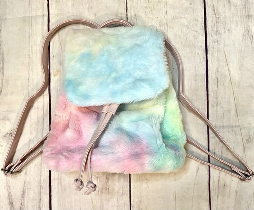 Cotton Candy Tiny Fur Backpack - jernijacks