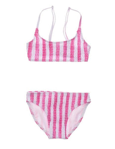 Fiesta Stripe Shirred Top Bikini - jernijacks