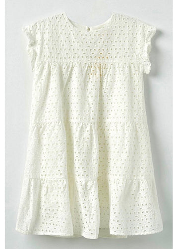 Flutter Sleeve Eyelet Dress - jernijacks