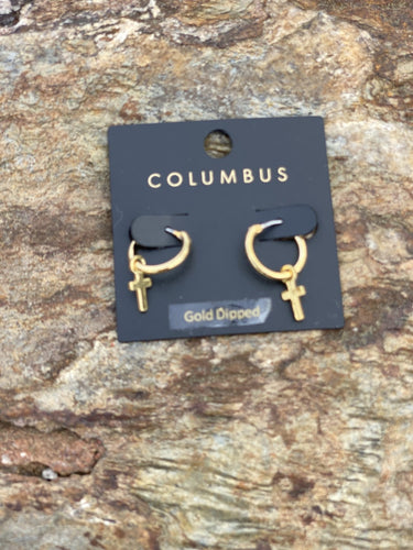 Gold Cross Earrings - jernijacks