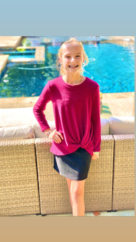 Knotted Tunic Sweater Top - jernijacks