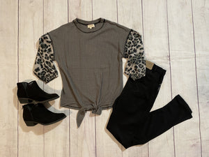 Leopard Sleeve Top - jernijacks