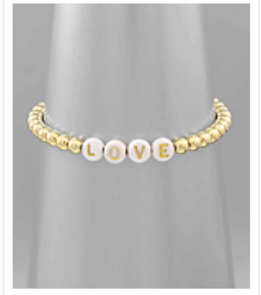 Love Gold Bead Bracelet - jernijacks