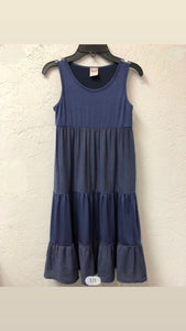 Navy Tiered Dress - jernijacks