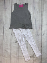Load image into Gallery viewer, Sleeveless Drawstring Top- Gray - jernijacks