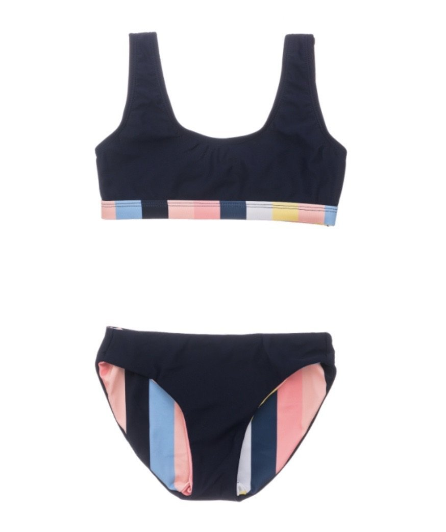 Stripe Scoop Bikini - jernijacks