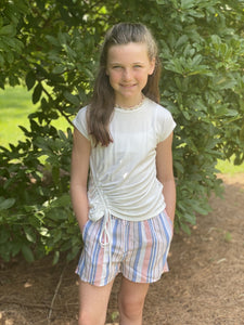 Striped Shorts with Smocked Waist - jernijacks