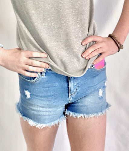 Tractr Basic Denim Short - jernijacks