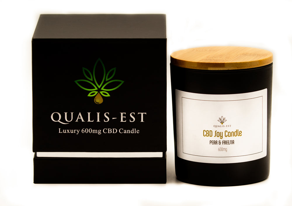 600mg CBD Candle, Pear and Freesia