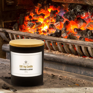 600mg CBD Candle, Woodsmoke and Leather