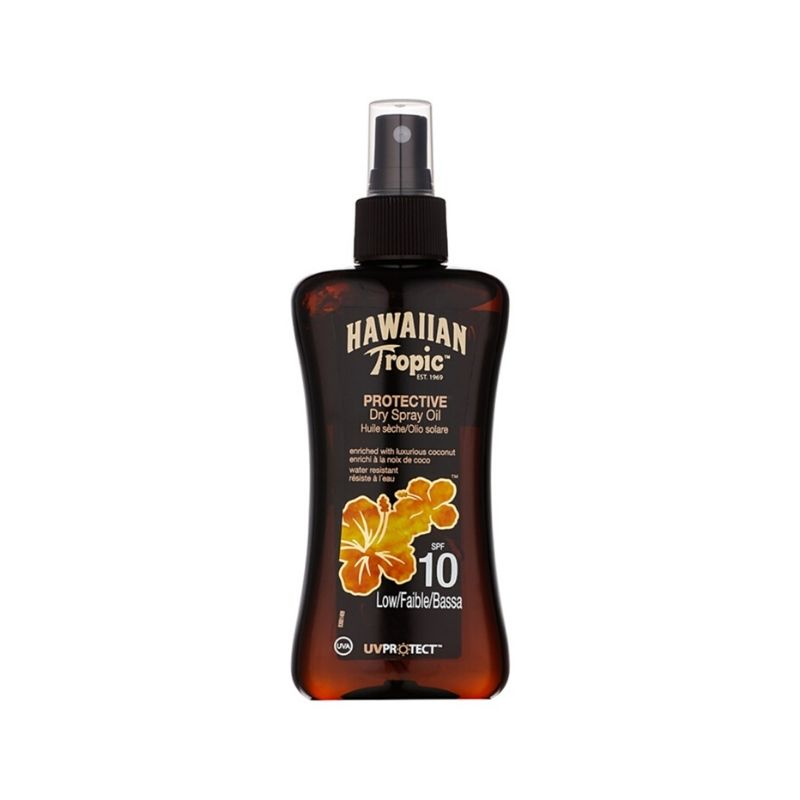 Aceite bronceador Protective Dry Spray Oil HAWAIIAN TROPIC SPF 10 - 200ml