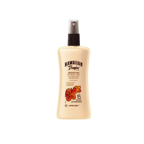 Loción Solar Protectora en Spray HAWAIIAN TROPIC SPF 15 - 200 ml