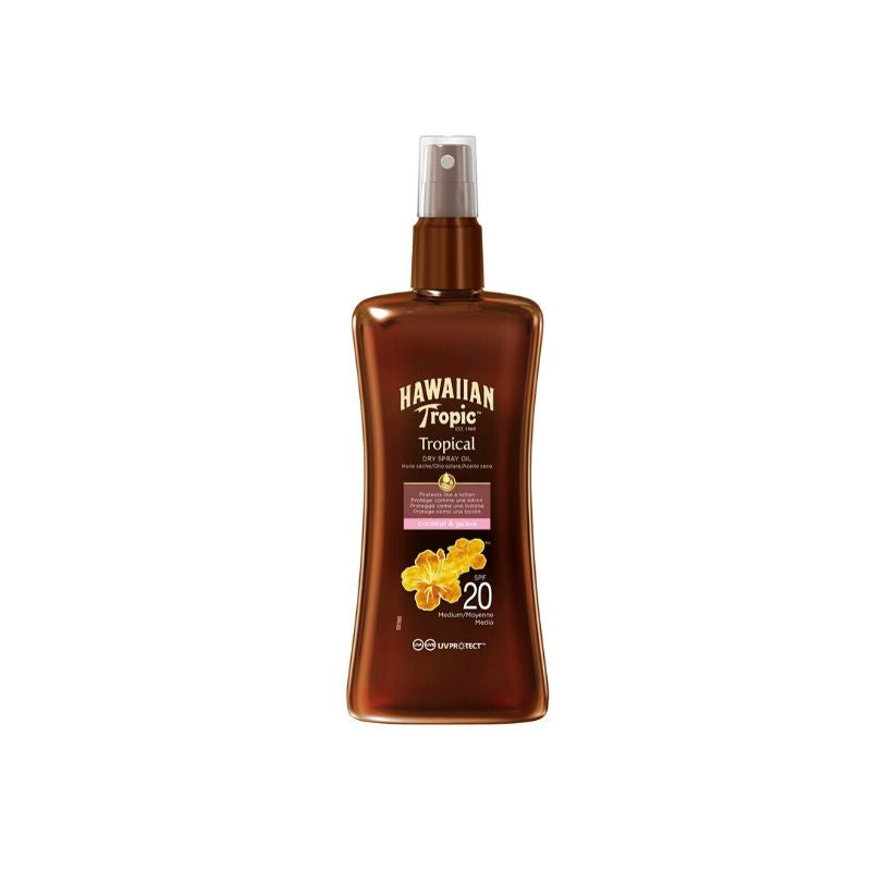 Aceite bronceador Protective Dry Spray Oil HAWAIIAN TROPIC SPF 20 - 200 ml