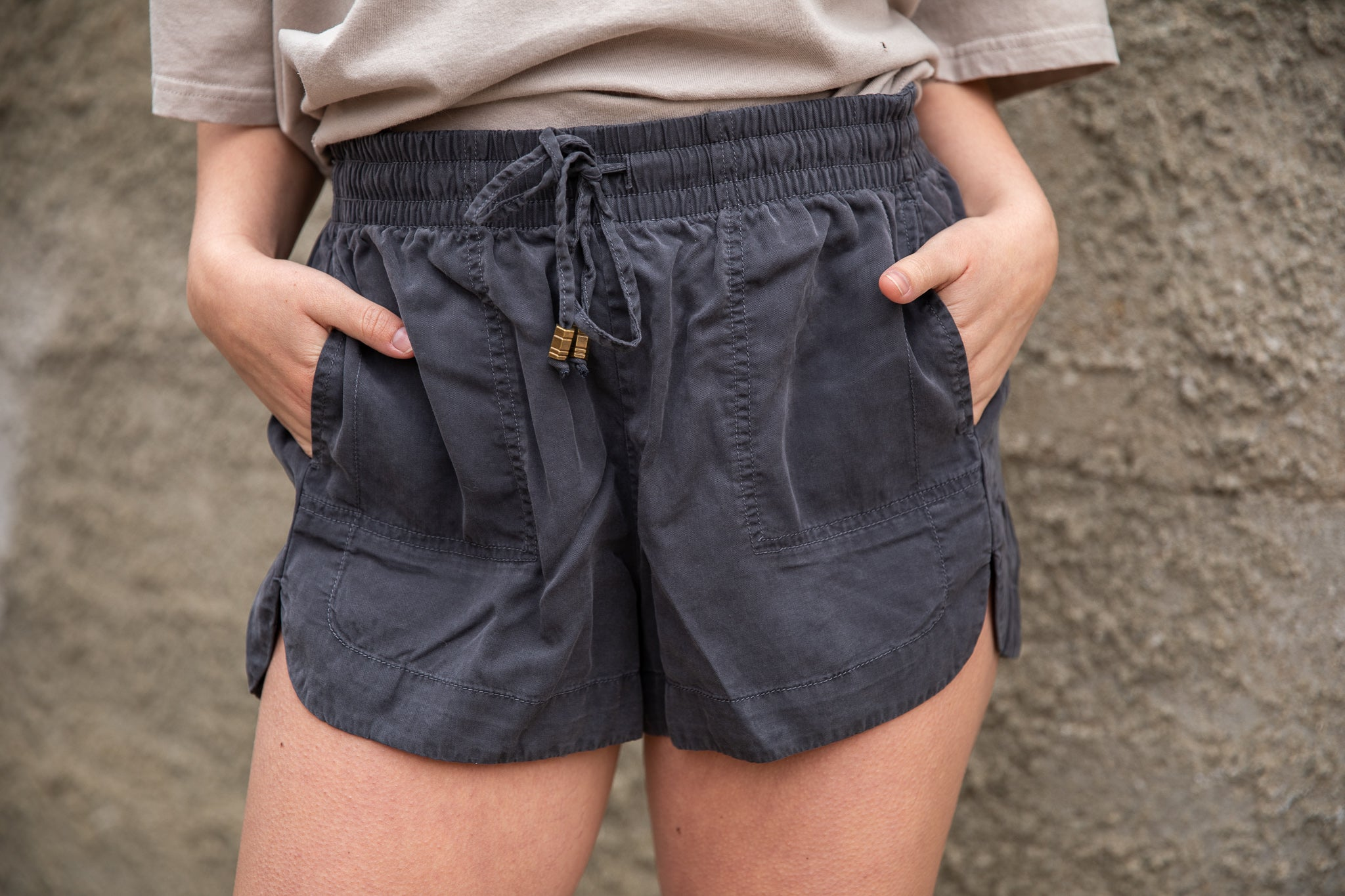 Charcoal PaperBag Shorts