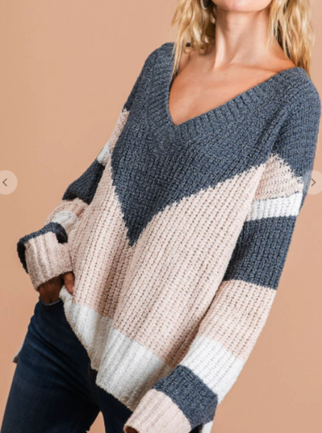 Winter Wonderland Color Block Sweater