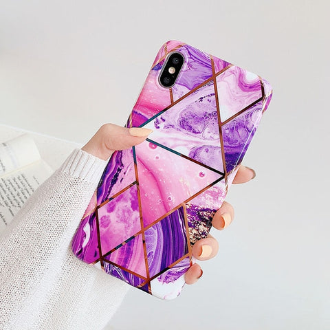 LOVECOM Geometric Marble Phone Cases For iPhone - NESHTRI