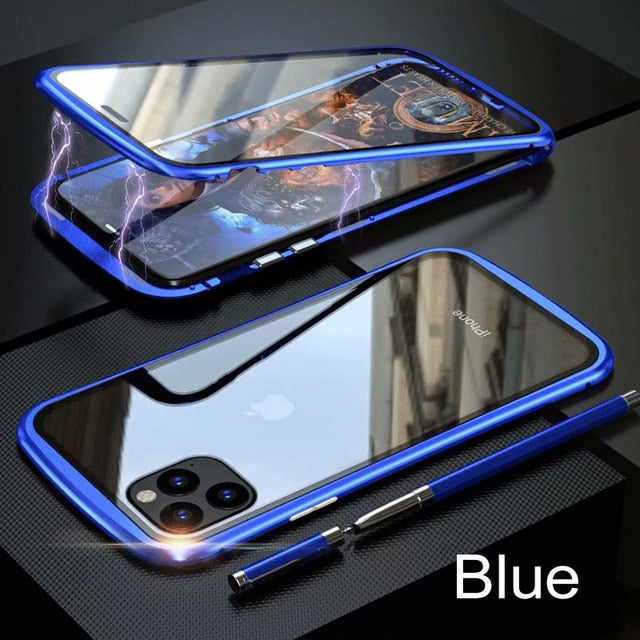 Metal Bumper Magnetic Case For iPhone 11 Pro Max - NESHTRI