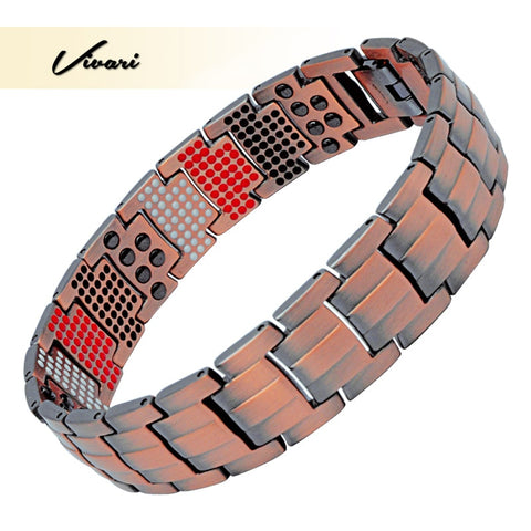 Vivari Double Row Men's Healing Magnetic Male Bracelet - NESHTRI