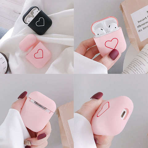 Fashion Cute Heart Couples Case For Airpods Case - NESHTRI