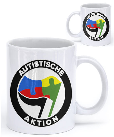 Autistische Aktion Coffee Mug