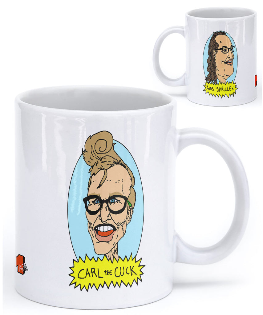 AIDS Skrillex & Carl the Cuck Coffee Mug