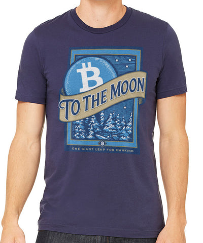 Bitcoin To The Moon Men's T-Shirt