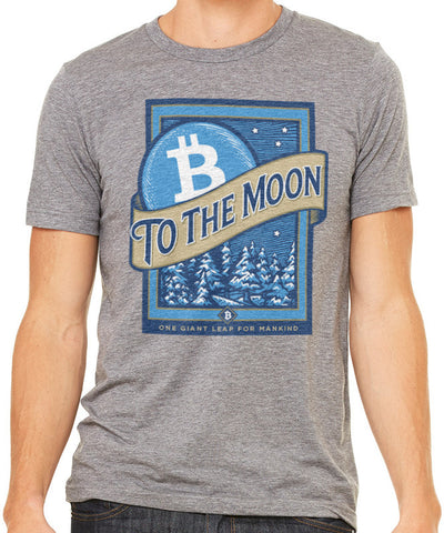 Bitcoin To The Moon Men's Triblend T-Shirt