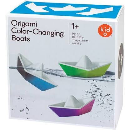 Origami Color-Changing Bath Boats