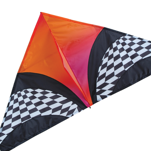 "56"" Delta Orange Op Art Kite"